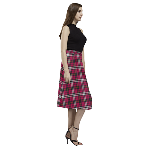 Tartan Crepe Skirt - Little Skirt For Women