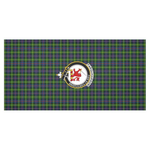 Farquharson Crest Tartan Tablecloth | Home Decor