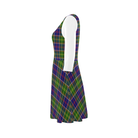 Ayrshire District Tartan 3/4 Sleeve Sundress | Exclusive Over 500 Clans