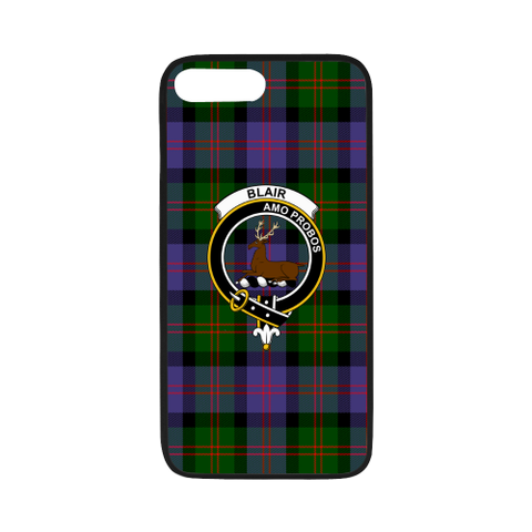 Blair Tartan Clan Badge Rubber Phone Case