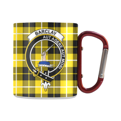 Barclay Dress Modern  Tartan Mug Classic Insulated - Clan Badge