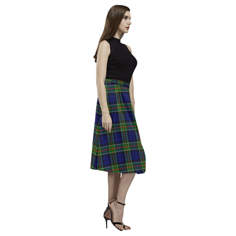 Tartan Crepe Skirt - Colquhoun Modern Skirt For Women