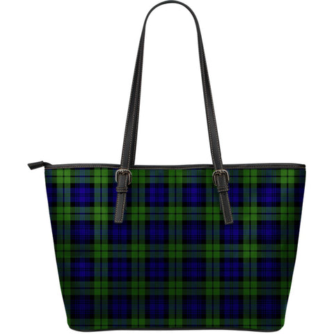 Campbell Modern Tartan Leather Tote Bag (Large) | Over 500 Tartans | Special Custom Design