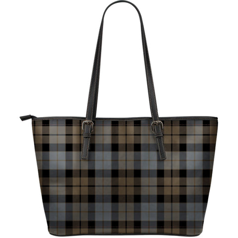 MacKay Weathered Tartan Leather Tote Bag (Large) | Over 500 Tartans | Special Custom Design