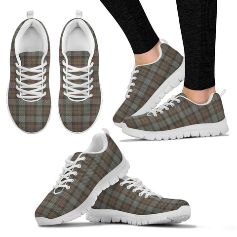 Image of Outlander Fraser, Women's Sneakers, Tartan Sneakers, Clan Badge Tartan Sneakers, Shoes, Footwears, Scotland Shoes, Scottish Shoes, Clans Shoes