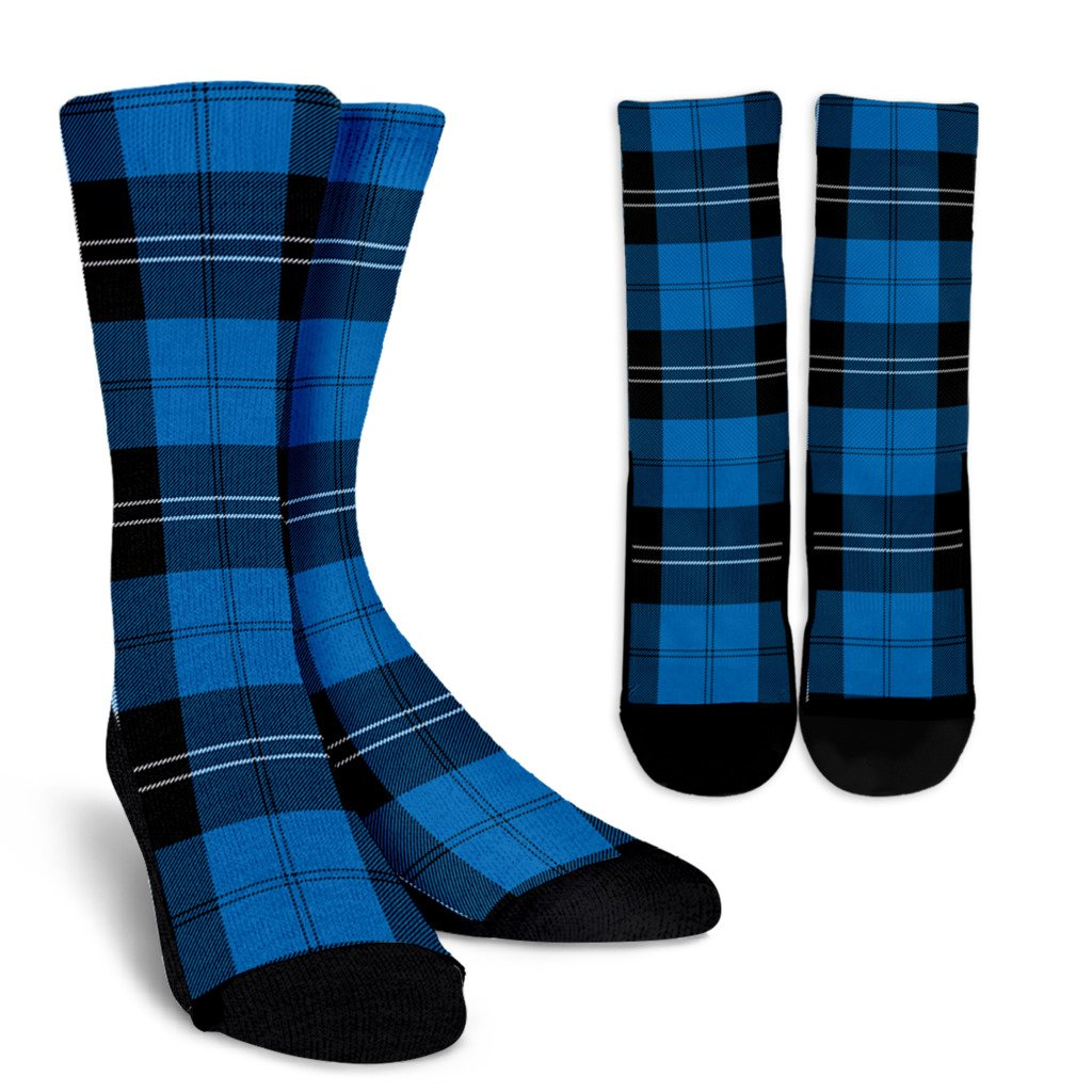 Scottish Modern Ramsay Blue Tartan Pleated to Sets ...