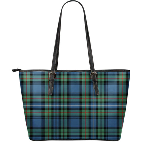Robertson Hunting Ancient Tartan Leather Tote Bag (Large) | Over 500 Tartans | Special Custom Design
