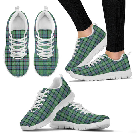 MacThomas Ancient, Women's Sneakers, Tartan Sneakers, Clan Badge Tartan Sneakers, Shoes, Footwears, Scotland Shoes, Scottish Shoes, Clans Shoes