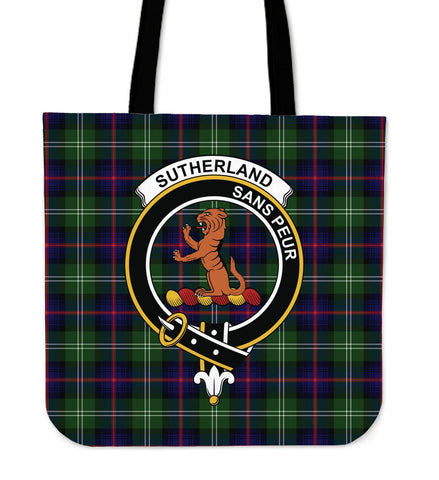 Tartan Tote Bag - Sutherland II Clan Badge | Special Custom Design