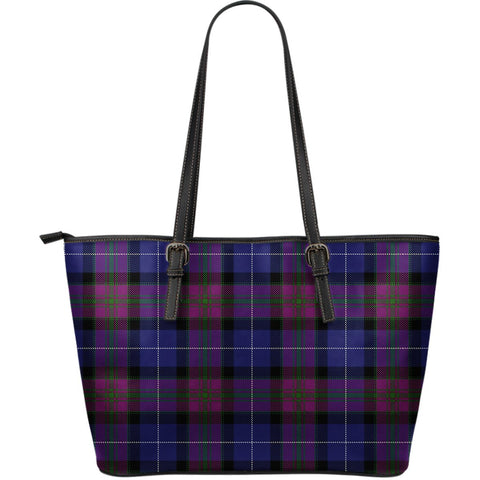 Pride of Scotland Tartan Leather Tote Bag (Large) | Over 500 Tartans | Special Custom Design