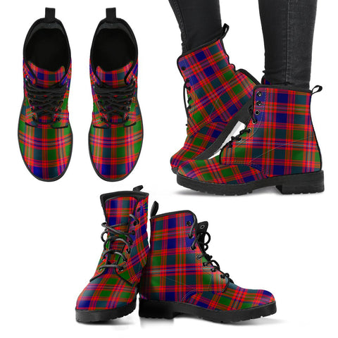 Leather Boots - Clan MacIntyre Modern Plaid Boots