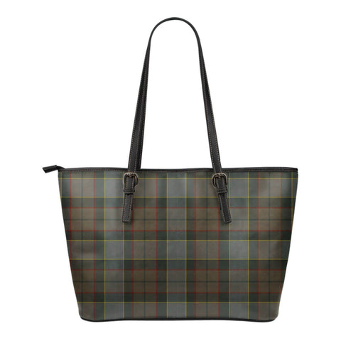 Outlander Fraser Tartan Leather Tote Bag (Small) | Over 500 Tartans | Special Custom Design