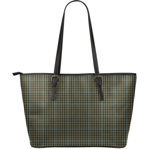 Haig Check Tartan Leather Tote Bag (Large) | Over 500 Tartans | Special Custom Design