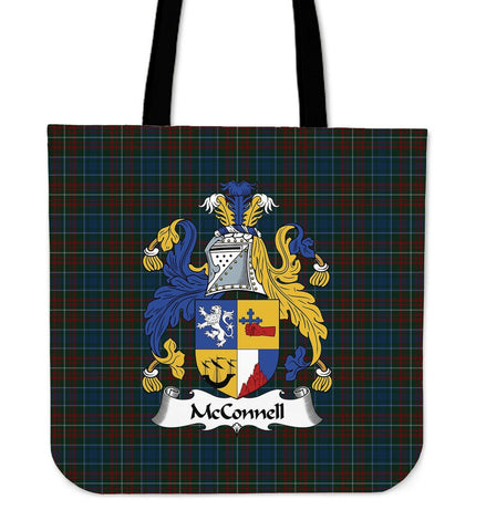 Tartan Tote Bag - McConnell Clan Badge | Special Custom Design