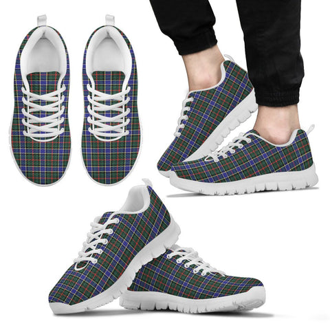 Ogilvie Hunting Modern, Men's Sneakers, Tartan Sneakers, Clan Badge Tartan Sneakers, Shoes, Footwears, Scotland Shoes, Scottish Shoes, Clans Shoes