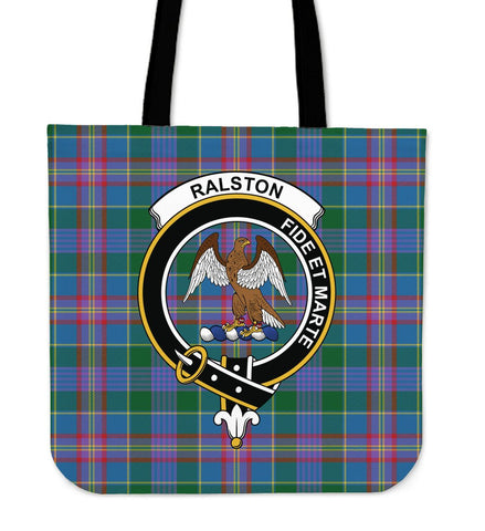 Tartan Tote Bag - Ralston Clan Badge | Special Custom Design