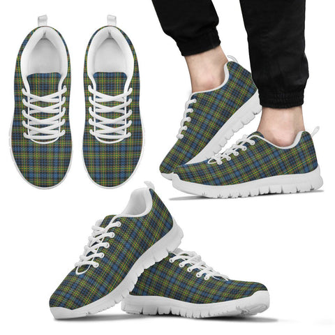 Image of MacLellan Ancient, Men's Sneakers, Tartan Sneakers, Clan Badge Tartan Sneakers, Shoes, Footwears, Scotland Shoes, Scottish Shoes, Clans Shoes