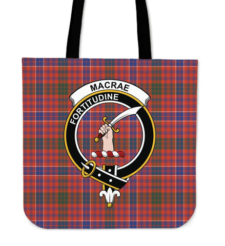 Tartan Tote Bag - MacRae Ancient Clan Badge | Special Custom Design