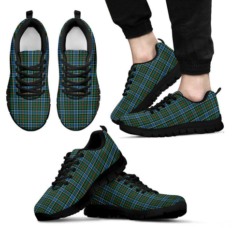 Ogilvie Hunting Ancient, Men's Sneakers, Tartan Sneakers, Clan Badge Tartan Sneakers, Shoes, Footwears, Scotland Shoes, Scottish Shoes, Clans Shoes