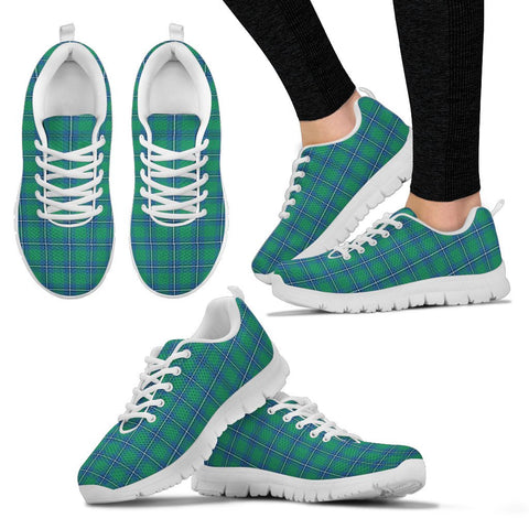 Irvine Ancient, Women's Sneakers, Tartan Sneakers, Clan Badge Tartan Sneakers, Shoes, Footwears, Scotland Shoes, Scottish Shoes, Clans Shoes