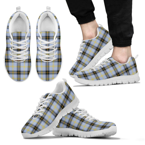 Bell of the Borders, Men's Sneakers, Tartan Sneakers, Clan Badge Tartan Sneakers, Shoes, Footwears, Scotland Shoes, Scottish Shoes, Clans Shoes