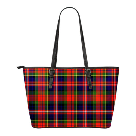 MacPherson Modern Tartan Leather Tote Bag (Small) | Over 500 Tartans | Special Custom Design