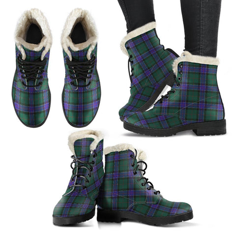 Sinclair Hunting Modern Tartan Faux Fur Leather Boots