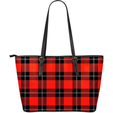 Ramsay Modern Tartan Leather Tote Bag (Large) | Over 500 Tartans | Special Custom Design