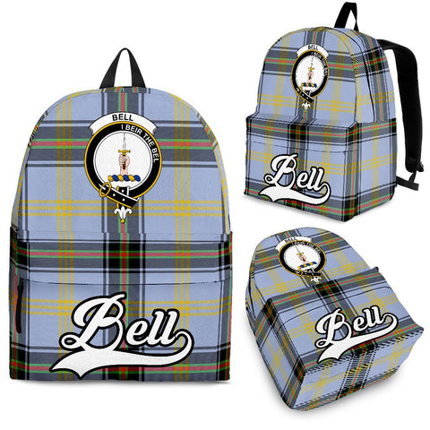 Bell Tartan Clan Backpack | Scottish Bag | Adults Backpacks & Bags