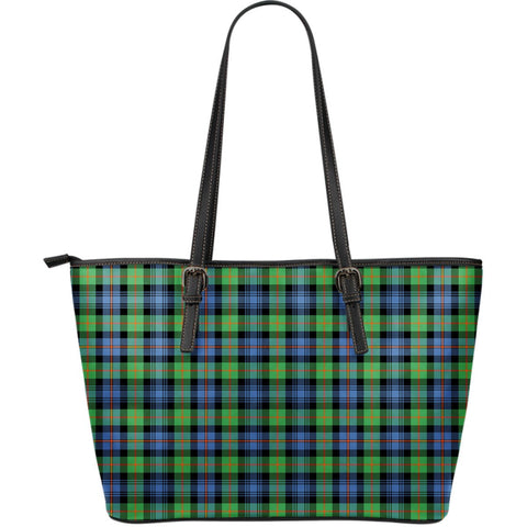 Murray of Atholl Ancient Tartan Leather Tote Bag (Large) | Over 500 Tartans | Special Custom Design