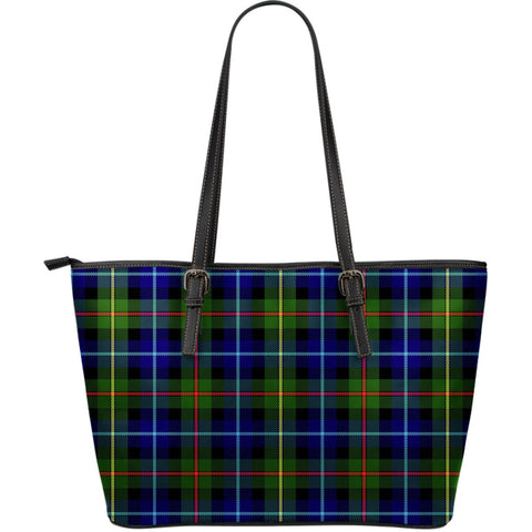 Smith Modern Tartan Leather Tote Bag (Large) | Over 500 Tartans | Special Custom Design