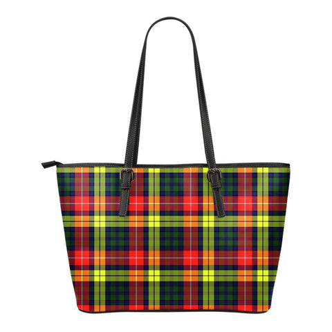 Buchanan Modern Tartan Leather Tote Bag (Small) | Over 500 Tartans | Special Custom Design