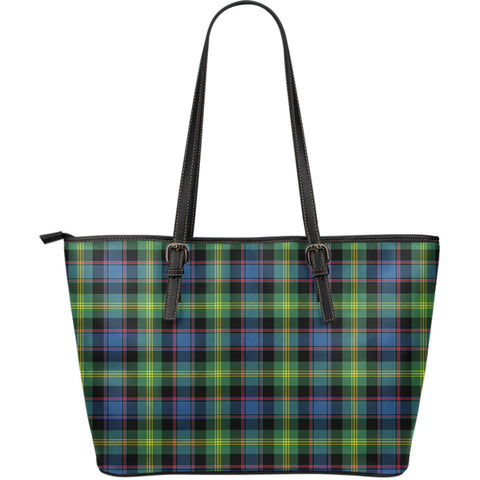 Watson Ancient Tartan Leather Tote Bag (Large) | Over 500 Tartans | Special Custom Design