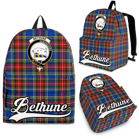 Bethune Tartan Clan Backpack | Scottish Bag | Adults Backpacks & Bags