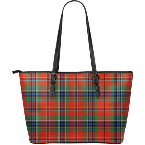 MacLean of Duart Ancient Tartan Leather Tote Bag (Large) | Over 500 Tartans | Special Custom Design