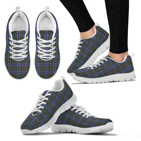 Image of Ogilvie Hunting Modern, Women's Sneakers, Tartan Sneakers, Clan Badge Tartan Sneakers, Shoes, Footwears, Scotland Shoes, Scottish Shoes, Clans Shoes