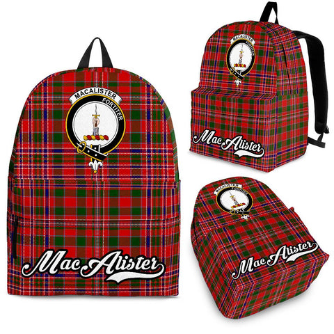 MacAlister Tartan Clan Backpack | Scottish Bag | Adults Backpacks & Bags