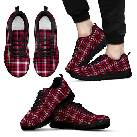 Little, Men's Sneakers, Tartan Sneakers, Clan Badge Tartan Sneakers, Shoes, Footwears, Scotland Shoes, Scottish Shoes, Clans Shoes