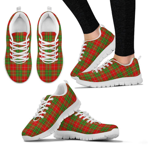Burnett Ancient, Women's Sneakers, Tartan Sneakers, Clan Badge Tartan Sneakers, Shoes, Footwears, Scotland Shoes, Scottish Shoes, Clans Shoes