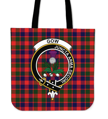 Tartan Tote Bag - Gow of Skeoch Clan Badge | Special Custom Design