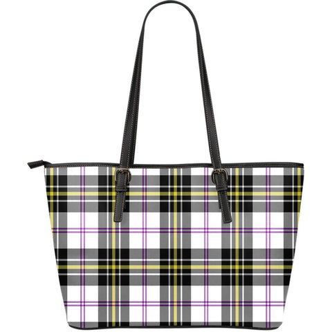 MacPherson Dress Modern Tartan Leather Tote Bag (Large) | Over 500 Tartans | Special Custom Design