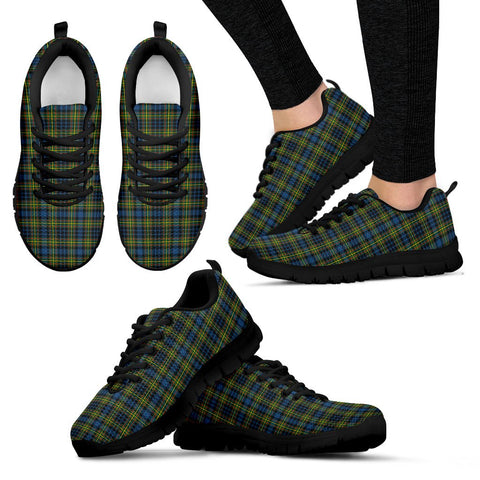 Image of MacLellan Ancient, Women's Sneakers, Tartan Sneakers, Clan Badge Tartan Sneakers, Shoes, Footwears, Scotland Shoes, Scottish Shoes, Clans Shoes