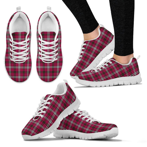 Little, Women's Sneakers, Tartan Sneakers, Clan Badge Tartan Sneakers, Shoes, Footwears, Scotland Shoes, Scottish Shoes, Clans Shoes