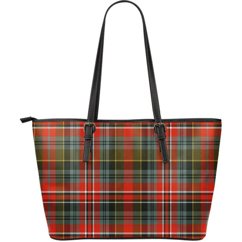 MacPherson Weathered Tartan Leather Tote Bag (Large) | Over 500 Tartans | Special Custom Design