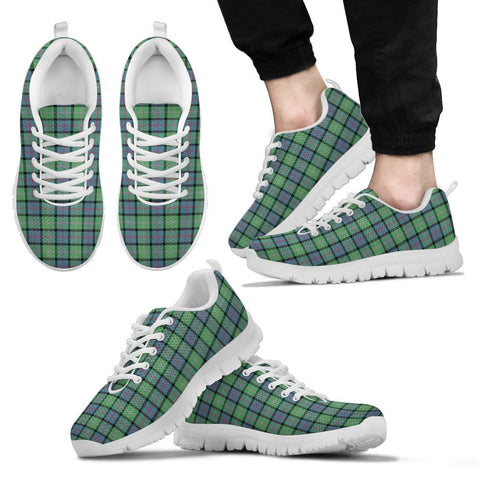 MacThomas Ancient, Men's Sneakers, Tartan Sneakers, Clan Badge Tartan Sneakers, Shoes, Footwears, Scotland Shoes, Scottish Shoes, Clans Shoes