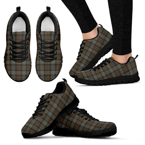 Outlander Fraser, Women's Sneakers, Tartan Sneakers, Clan Badge Tartan Sneakers, Shoes, Footwears, Scotland Shoes, Scottish Shoes, Clans Shoes