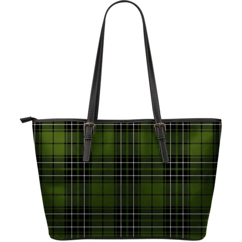 MacLean Hunting Tartan Leather Tote Bag (Large) | Over 500 Tartans | Special Custom Design