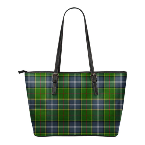 Pringle Tartan Leather Tote Bag (Small) | Over 500 Tartans | Special Custom Design