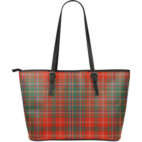MacDougall Ancient Tartan Leather Tote Bag (Large) | Over 500 Tartans | Special Custom Design