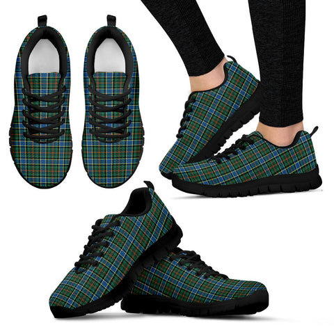 Ogilvie Hunting Ancient, Women's Sneakers, Tartan Sneakers, Clan Badge Tartan Sneakers, Shoes, Footwears, Scotland Shoes, Scottish Shoes, Clans Shoes